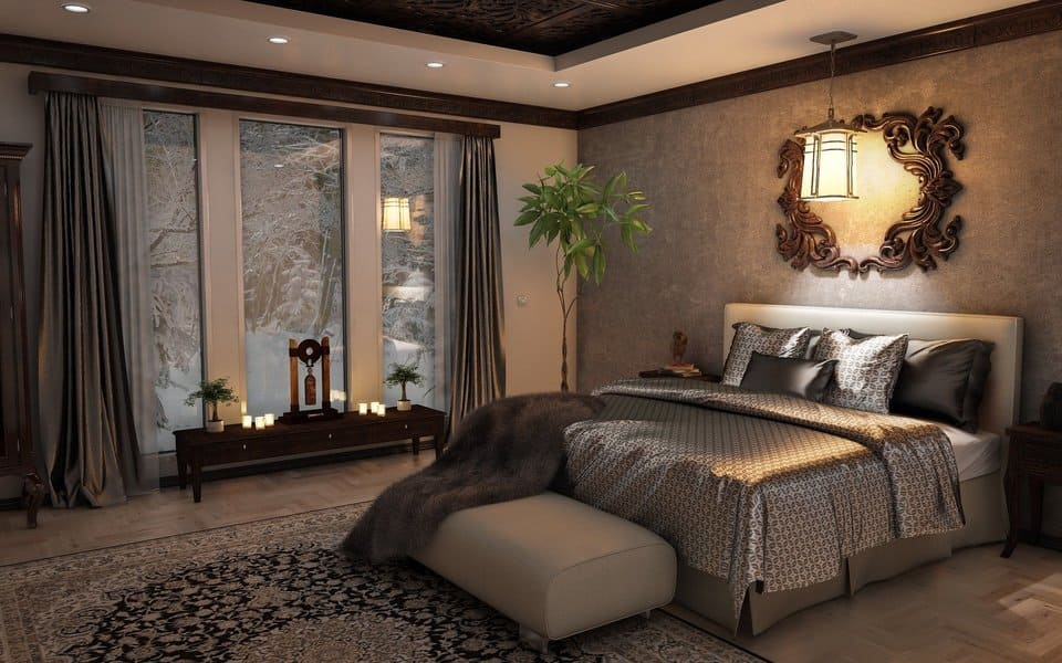 classic design of a bedroom